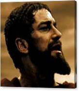 Gerard Butler  In 300 Canvas Print
