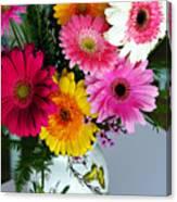 Gerbera Daisy Bouquet Canvas Print