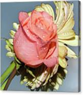 Gerbers With The Rose Canvas Print
