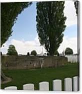 German Bunker At Tyne Cot Cemetery Canvas Print