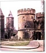 German Gate In Metz 1955 Canvas Print