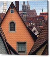 German Rooftops Canvas Print