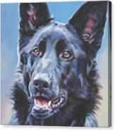 German Shepherd Black Canvas Print