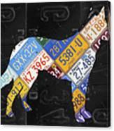 German Shepherd Dog Pet Owner Love Vintage Recycled License Plate Artwork Canvas Print