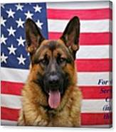 German Shepherd - U.s.a. - Text Canvas Print