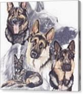 German Shepherd W/ghost Canvas Print