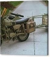 German Sidecar Replica 1943 Canvas Print