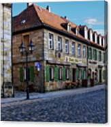 German Street Scene Canvas Print