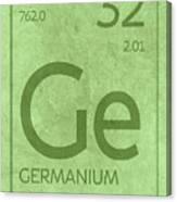 Germanium Element Symbol Periodic Table Series 032 Canvas Print