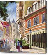 Germany Baden-baden Lange Str Canvas Print