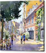 Germany Baden-baden Lange Strasse Canvas Print