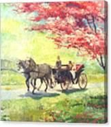Germany Baden-baden Lichtentaler Allee Spring 2 Canvas Print