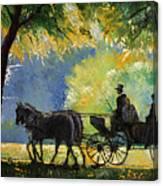 Germany Baden-baden Lichtentaler Allee Spring  Canvas Print