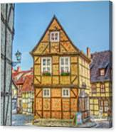 Germany - Half-timbered Houses And Alleys In Quedlinburg Canvas Print