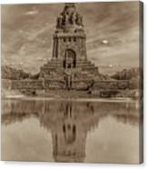 Germany - Monument To The Battle Of The Nations In Leipzig, Saxony, In Sepia Canvas Print