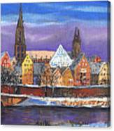 Germany Ulm Panorama Winter Canvas Print