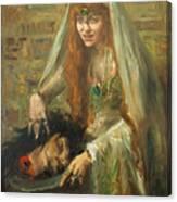 Gertrud Eysoldt As Salome Canvas Print