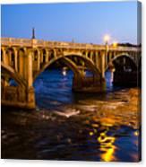 Gervais Street Bridge At Twilight Canvas Print