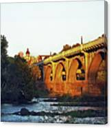 Gervais Street Bridge Upstream  Canvas Print