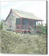 Get Away Cottage Canvas Print