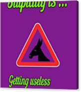 Getting Bigstock Donkey 171252860 Canvas Print
