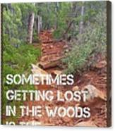 Getting Lost In The Woods Canvas Print