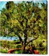 Getty Villa Landscape Canvas Print