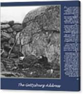 Gettysburg Address Civil War Devils Den Canvas Print