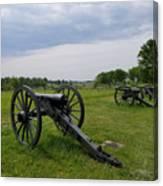 Gettysburg Battlefield Cannons Canvas Print