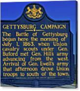 Gettysburg Campaign Canvas Print