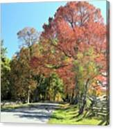 Gettysburg  In The  Fall Canvas Print