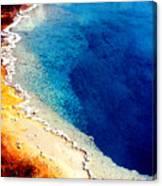 Geyser Basin Canvas Print