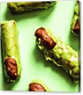 Ghastly Green Halloween Finger Food Canvas Print