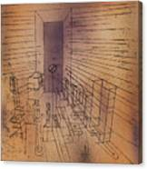 Ghost Chamber With The Tall Door New Version Canvas Print