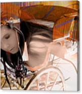 Ghost In The Carriage House Canvas Print