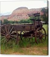 Ghost Ranch Wagon Canvas Print