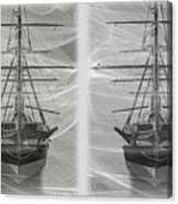Ghost Ship - Gently Cross Your Eyes And Focus On The Middle Image Canvas Print