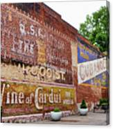 Ghost Signs In Radford Virginia Canvas Print