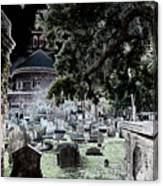 Ghostly Cemetary Canvas Print