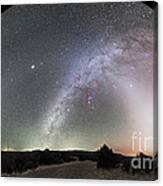 Ghostly Glows Of A Truly Dark Sky Canvas Print