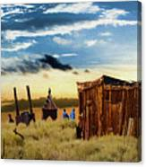 Ghostly Town 2 Canvas Print