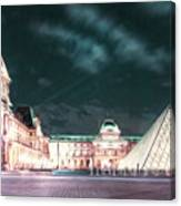 Ghosts Of The Louvre Museum 2  Art Canvas Print