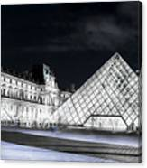 Ghosts Of The Louvre Museum  Art Canvas Print