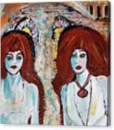 Ghosts On The Brooklyn Bridge Canvas Print