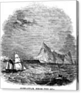 Gibraltar, 1843 Canvas Print
