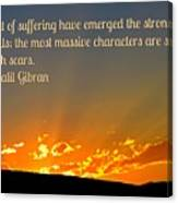 Gibran On The Character Of The Soul Canvas Print