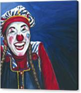 Giggles The Clown Canvas Print