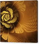 Gilded Flower Canvas Print