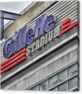 Gillette Stadium Sign Canvas Print