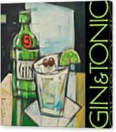 Gin And Tonic Poster Canvas Print